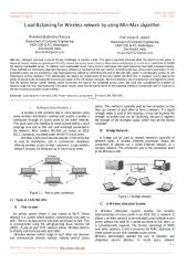 Load Balancing for Wireless network by using Min Max algorithm.pdf