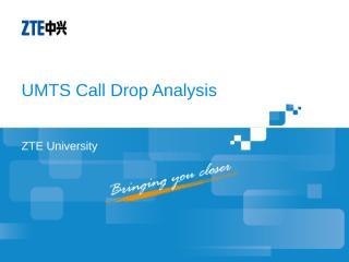 WO_NAST3015_E01_1 UMTS Call Drop Analysis 72.ppt