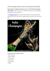2017-2022 India Champagne Market Report.docx
