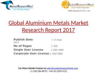 Global Aluminium Metals Market Research Report 2017.pptx