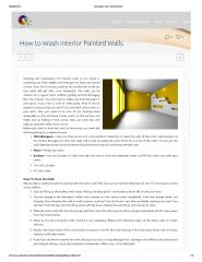 Know How to Wash Interior Painted Walls.pdf