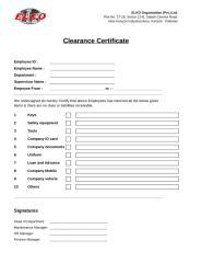 Clearance Certificate.xls