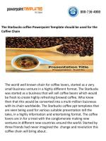 The starbucks coffee powerpoint template should be used for the coffee chain.pdf