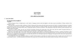 syllabus- English grade 6.doc