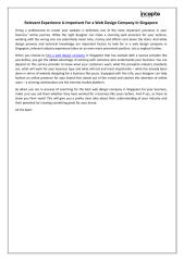 Relevant Experience Is Important For a Web Design Company in Singapore.pdf