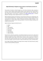 Digital Marketing in Singapore and Its Impact on the Business Scenario of Today.pdf